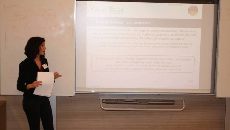 Ms. Simona Capobianchi holds a seminar on Technological Review and Energy Efficiency