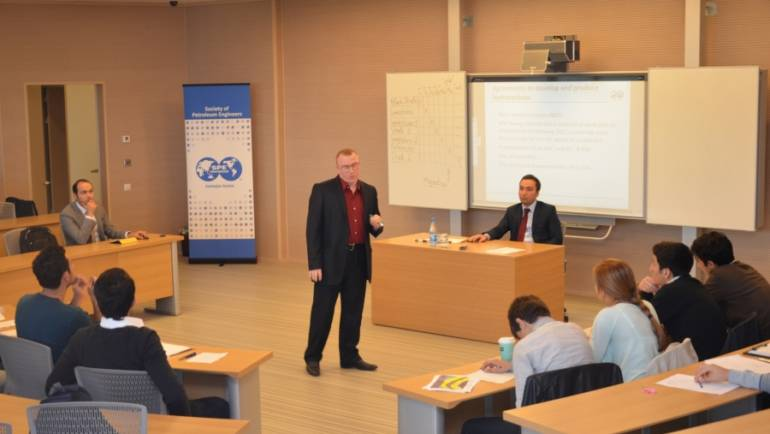 "Caspian Center for Energy and Environment of ADA hosted three days SPE Symposium ""Life of Filed Development"" on 24-26 October."