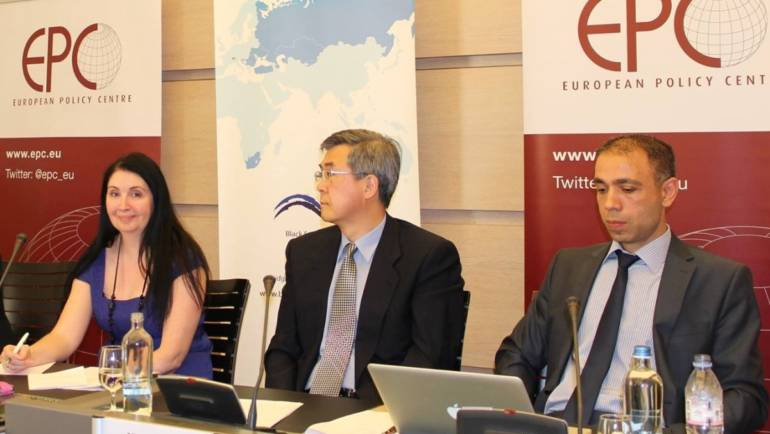 Dr. Elnur Soltanov gave a speech at a conference on Caspian Energy in Brussels