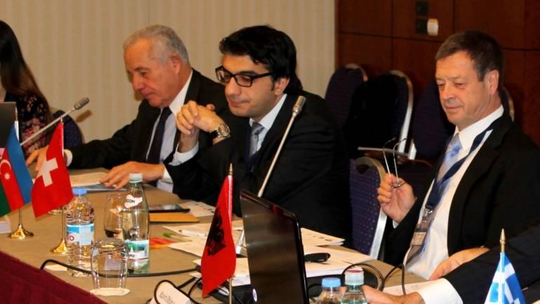 Zaur Shiriyev speaks at the NATO Advanced Research Workshop