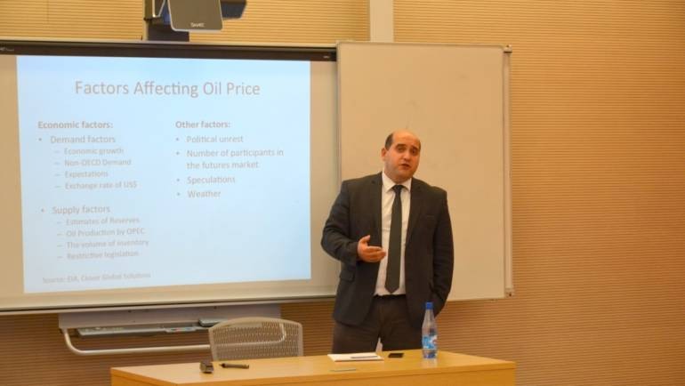 "Round-Table Discussion on ""Crude Oil Price Decline: Impact on Azerbaijan"""